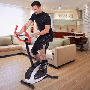 Ultrasport Excercise Bike Racer 150 with Hand Pulse Sensors